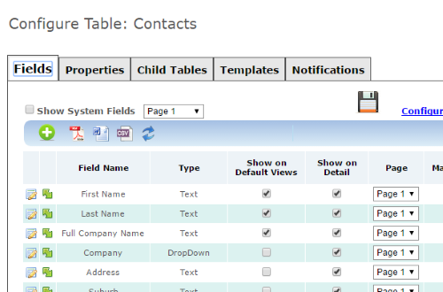 Configurable Tables and Sample Types